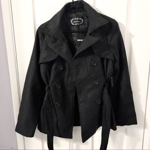Forever 21 by Ambience Dark Gray Peacoat